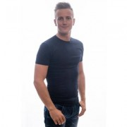 Slater Stretch T-Shirt Round neck Blue Two Pack ( art 6510)
