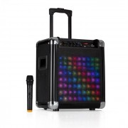 """Auna Moving 80.2 LED PA-Anlage 8"""" Woofer 100 W max VHF-Mikro USB SD BT AUX mobil"""