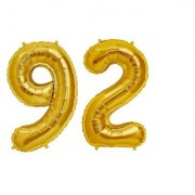 De-Ultimate Solid Golden Color 2 Digit Number (92) 3d Foil Balloon for Birthday Celebration Anniversary Parties