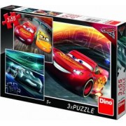 Puzzle 3 in 1 - Cars 3 x 55 piese