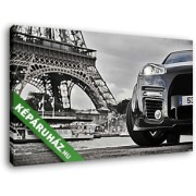 Eiffel- torony ahogy az autók látják (40x25 cm, Vászonkép )