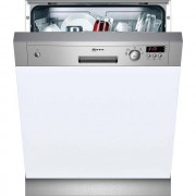 NEFF N30 S41E50N1GB Semi Integrated Standard Dishwasher - Stainless Steel Control Panel with Fixed Door Fixing Kit - A+ Rated