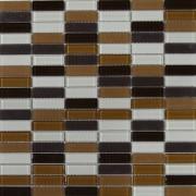 Maxwhite ASHS4M-1 Mozaika skleněná hnědá tmavě hnědá krémová 29,7x29,7cm