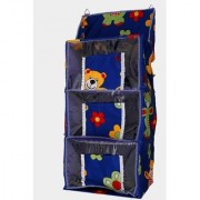 Bigbpught Baby Kids Folding Cotton Collapsible Wardrobe (Finish Color - blue)