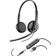 Casca Call Center Plantronics BLACKWIRE 325.1-M, USB, Jack 3.5 mm, Microsoft Certified, Binaural (Negru)