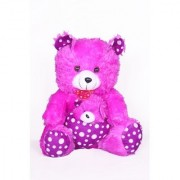 Purple Teddy Bear Cute beautiful Loveable with love heart Gift for kids Girls 50 CM