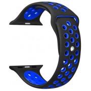Wotchi Silikonový řemínek pro Apple Watch Černá/Modrá 42/44 mm