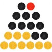 Grazzo Lightweight Kids Carrom Coins Standard Size Training Fun Multicolor 20 Small Carrom Coins