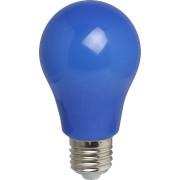 Bec LED Albastru A60, din Plastic, E27, 3W, de Exterior