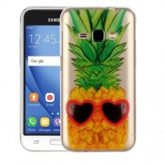 Samsung Galaxy J1 (2016) Case, J120 Case, Pineapple Pattern IMD Workmanship Soft TPU Protective Case