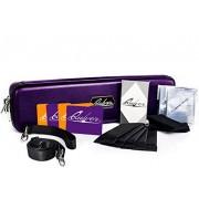 Quiver Violet Portable Game Card Carrying Case, Stilish PU Leather Exterior with Double Zipper, Dividers, Wrist Strap & Shoulder Strap | Deck Box Compatible | Plus: 100 Transparent Sleeves