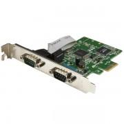 Tarjeta Serial PCI Express Startech Con Adaptador 2 Puertos Db9 Rs232 Con UART 16c1050, Pex2s1050