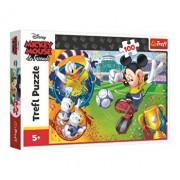 Puzzle Trefl Michey Mouse pe terenul de sport, 100 piese
