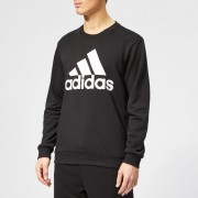 adidas Men's Must Haves BOS Crew Neck Sweatshirt - Black - L - Black