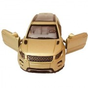 Die-Cast Metal Golden Maruti Breeza 4 Wheel Drive Metal Car Pull Back with working Openable Doors Light and Music for Tail and Front Light Great Gift for Boys and Girls Above 3 Years