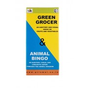 ANIMAL BINGO AND GREEN GROCER by Prism Edutives- Pictorial bingo on animals and fruits and vegetables, for preschoolers, teaching aid, upto 12 players, ideal for return gifts