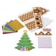 Декорация с бляскави стикери Коледно дърво и Медената къщичка Melissa and Doug,000772184045
