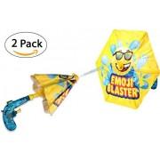 2 Pack Emoji Blaster Water Gun Squirt Pistol With Umbrella Shield For Kids- Outdoor Children Fun Summer, Pool, Beach, and Backyard kids Water Toys Super Soaker Shooter by Toyrifik