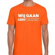 Bellatio Decorations Nederlands elftal supporter shirt Wij gaan LeeuWinnen oranje voor heren