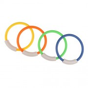 Aspiredeal 4 x Underwater Swimming Pool Multi-Colored Diving Rings Children Kids Swim Fun Toys Holiday Water Sports Toys 5.5inch Diameter