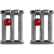 Exxotic Jewelz Brass Cufflink(Black, Red)