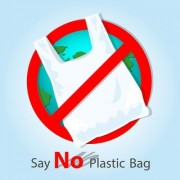 say no sticker poster|save environment|NO plastic|save earth|size:12x18 inch|multicolor