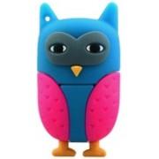Microware Owl USB 2.0 Flash Drives External Storage 16GB Pendrive 16 GB Pen Drive(Blue, Pink)