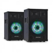 "Fenton TL10LED Pareja de altavoces Pasivos de 3 vías LED RGB Woofer 10"" Tweeter 500 W (PL2x-32429)"