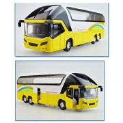 1:32 Simulation Alloy Tourist Bus Sound and Light Passenger Train Double-decker Bus Kids Toys Christmas Gift