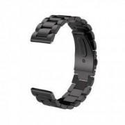 Curea metalica compatibila Sony Smartwatch 2 SW2 telescoape QR Black