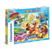 Clementoni 27085 supercolor puzzle mickey and the roadster racers 104 pezzi disney