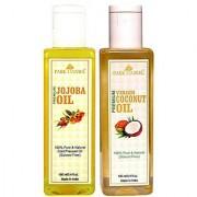 Park Daniel Premium Jojoba oil and Coconut oil combo pack of 2 bottles of 100 ml(200 ml)