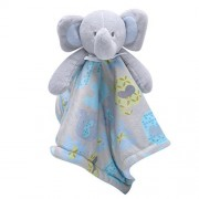 My New and My Frist Mini Unisex Cute Soft Plush Toys Elephant Stuffed Animal Baby Gift Animals Doll (10X10X5, Sky Blue)