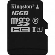 Memóriakártya, Micro SDHC, 16GB, Class 10, UHS-I, 80/10MB/s, adapter nélkül, KINGSTON \Canvas S