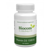Biocom VITAMIN D3 1500IU 100 tabletta