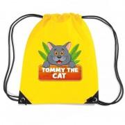 Bellatio Decorations Tommy the Cat katten rugtas / gymtas geel voor kinderen
