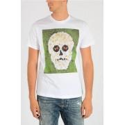 Diesel T-shirt T-JOE-QM Stampa Fiori Teschio taglia L