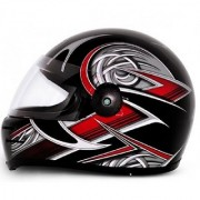 Stylish Full Face Helmet with ISI Mark - Multicolor