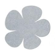 Set 4 greutati magnetice, model floare, argintiu