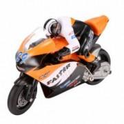 Motocicleta iUni MotoToy 222 Giroscop Scara 1 10 Portocaliu