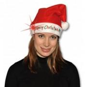 Geen Kerstmuts Merry Christmas met licht