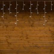 Luci Da Esterno Stalattite 10,88 x 0,6 metri con cavo bianco, 255 LED bianco freddo, 8 giochi di luce