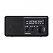 Asztali rádió, FMAM vétel, klasszikus fa dobozos, 7 W, fekete, WR-11 Black