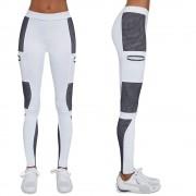 Bas black Dámské Sportovní Legíny Bas Black Passion Bílo-Modrá S
