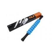 Roller masaj stick cu 9 role zimtate albastre (cod R123)