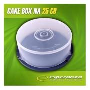 Medii de stocare esperanza Caseta Tort cutie cu 25 CD / DVD - 3133