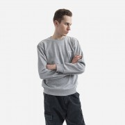 Carhartt WIP Script Embroidery Sweat I024678 GREY HEATHER/WHITE