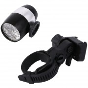 ER 6 LED De Ciclismo De Bicicletas Cabeza Frente Luz De Flash Advertencia Impermeable Seguridad De La Lámpara (Negro)