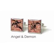 Tyler & Tyler Stencilart Red Bricks Cufflinks ANgel & Demon