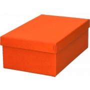 Geen Kerstboom cadeautje oranje doosje 19 cm